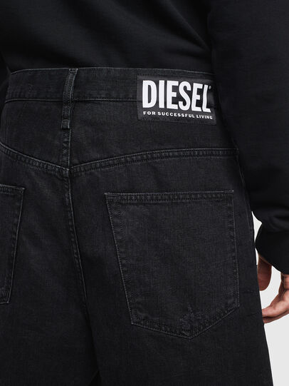Diesel - D-BRON, Black/Dark grey - Shorts - Image 4