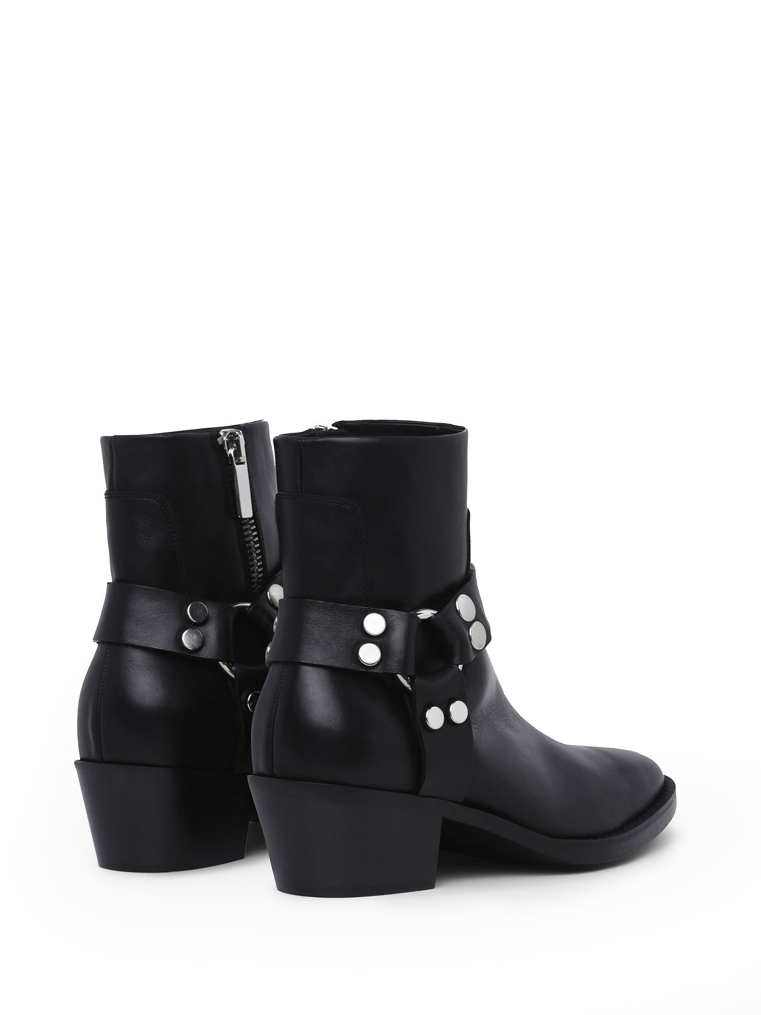 Western ankle boots in leather   Diesel