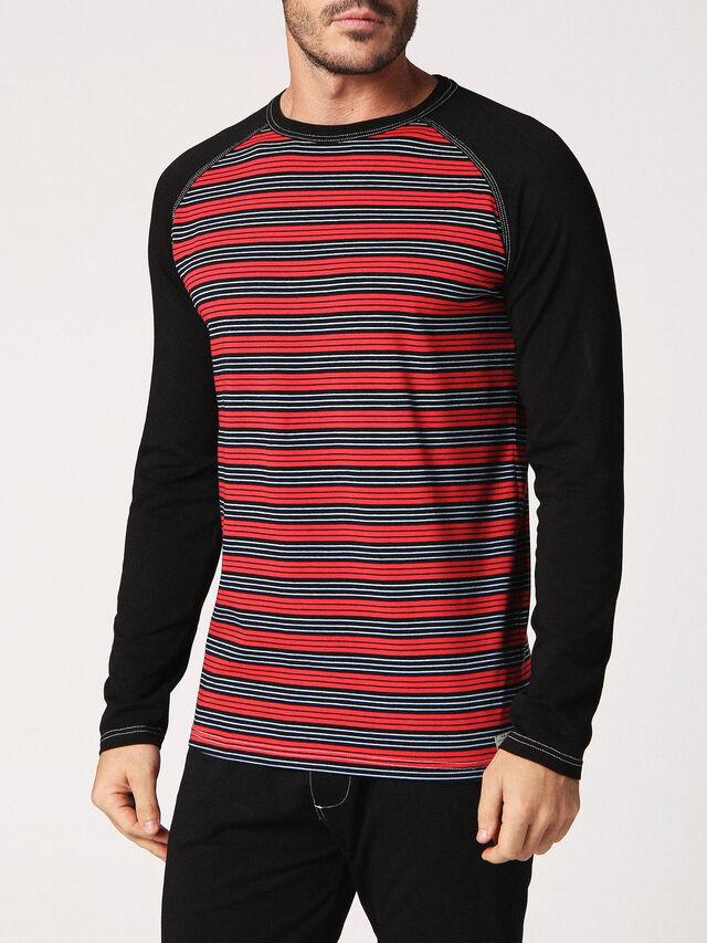 Diesel - UMLT-CASEY-J, Black/Red - T-Shirts - Image 1