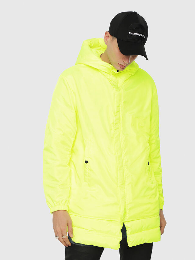 Diesel - W-SUN-REV-A, Yellow Fluo - Winter Jackets - Image 1