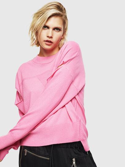 Diesel - M-CRISTAL, Pink - Knitwear - Image 5