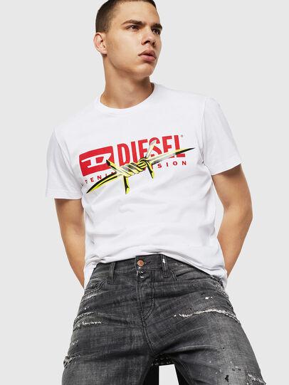 Diesel - T-DIEGO-BX2, White - T-Shirts - Image 4