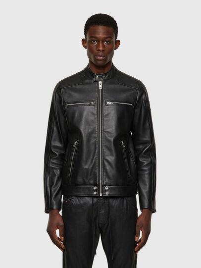 Diesel - L-BOY, Black - Leather jackets - Image 1