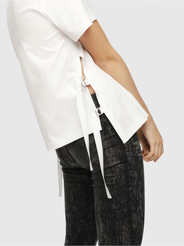 Diesel - T-FLEURIS-A, White - T-Shirts - Image 3