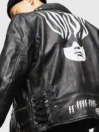 Diesel - L-GOTIV-A, Black - Leather jackets - Image 4