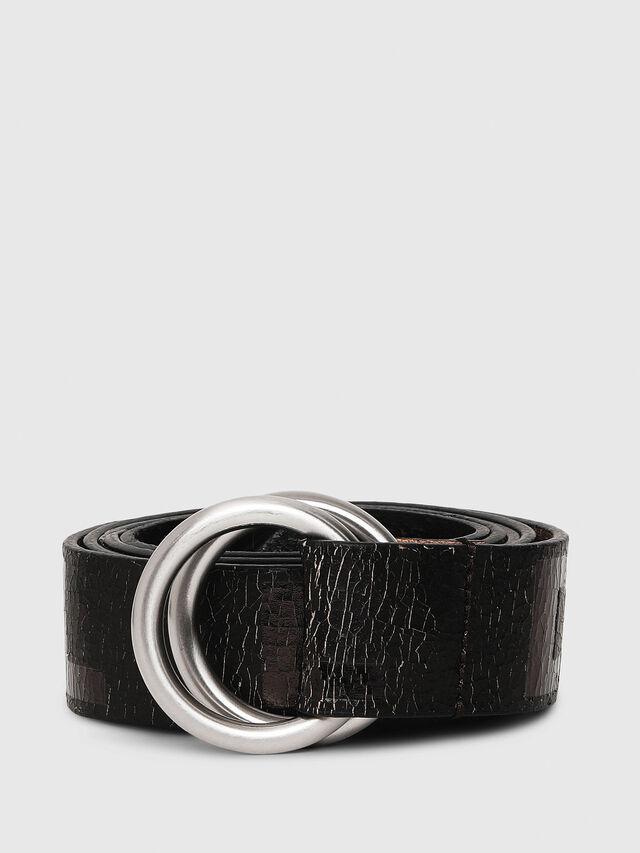 Diesel - B-LETTER, Black - Belts - Image 1