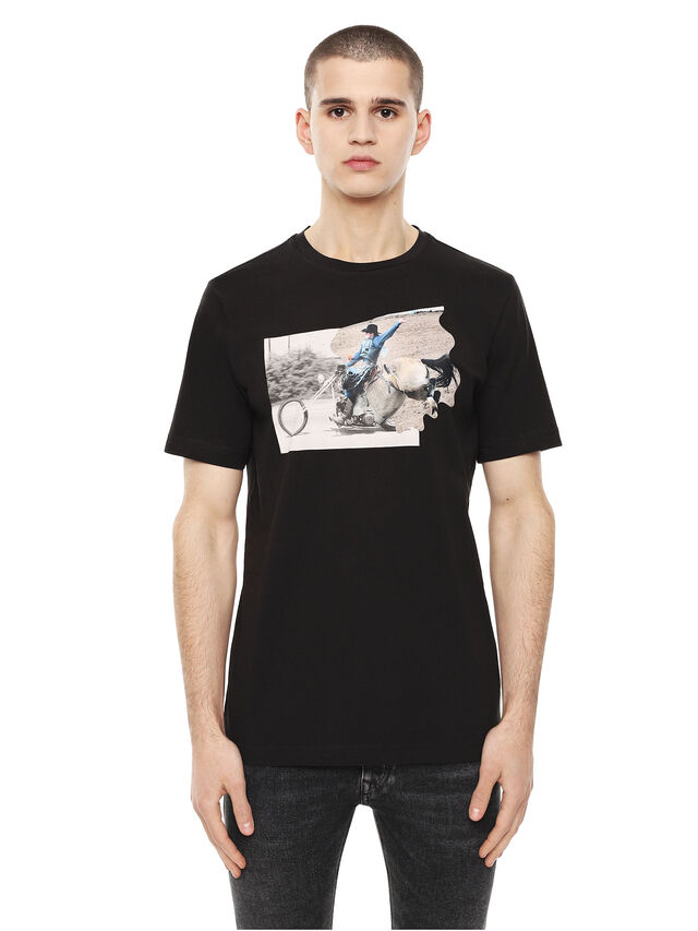 Diesel - TY-CHOPPER, Black - T-Shirts - Image 1