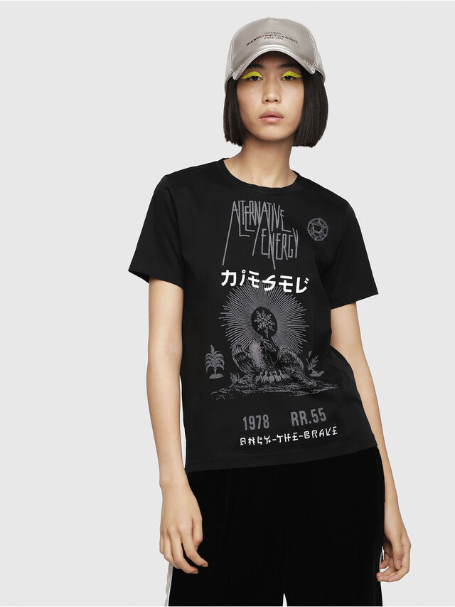Diesel - T-SILY-WC, Black - T-Shirts - Image 1