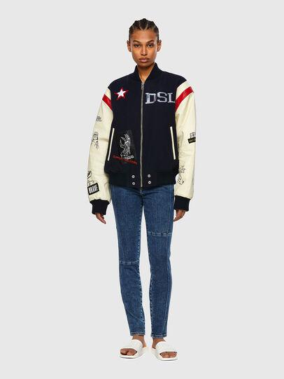 Diesel - L-COHEN, White/Blue - Leather jackets - Image 5