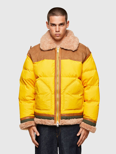 Diesel - W-EVAN-A, Yellow - Winter Jackets - Image 1