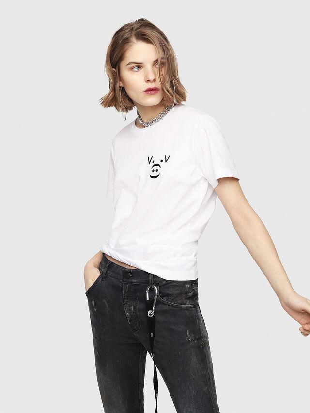 Diesel - CL-T-GADIE, White - T-Shirts - Image 2