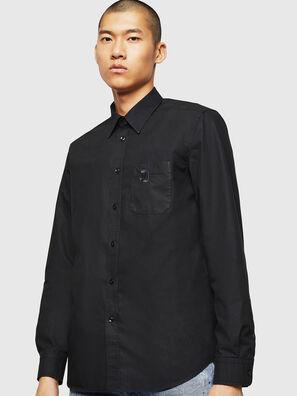 S-MOI-R-BW, Black - Shirts