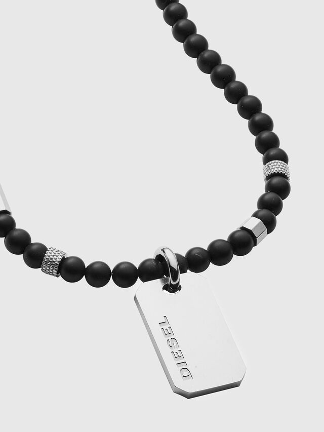 Diesel - DX1157, Black/Silver - Necklaces - Image 2