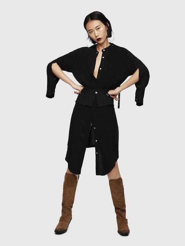Diesel - D-YAE, Black - Dresses - Image 4