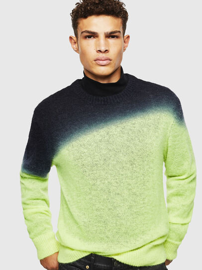 Diesel - K-TREAT, Yellow Fluo - Knitwear - Image 3