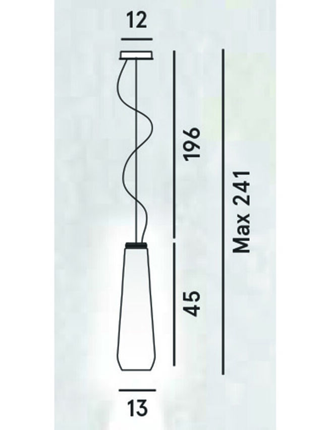 Diesel - GLAS DROP, Grey - Hang Lighting - Image 2
