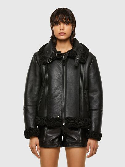 Diesel - L-EYRE, Black - Leather jackets - Image 8