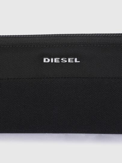Diesel - 24 ZIP, Black - Zip-Round Wallets - Image 4