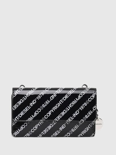 Diesel - DUPLET LCLT, Black/White - Zip-Round Wallets - Image 1