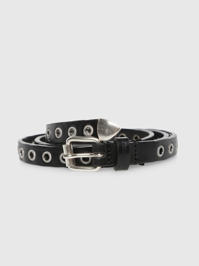 Diesel - BEYE, Black Leather - Belts - Image 2