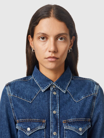 Diesel - DE-RINGY, Dark Blue - Denim Shirts - Image 3