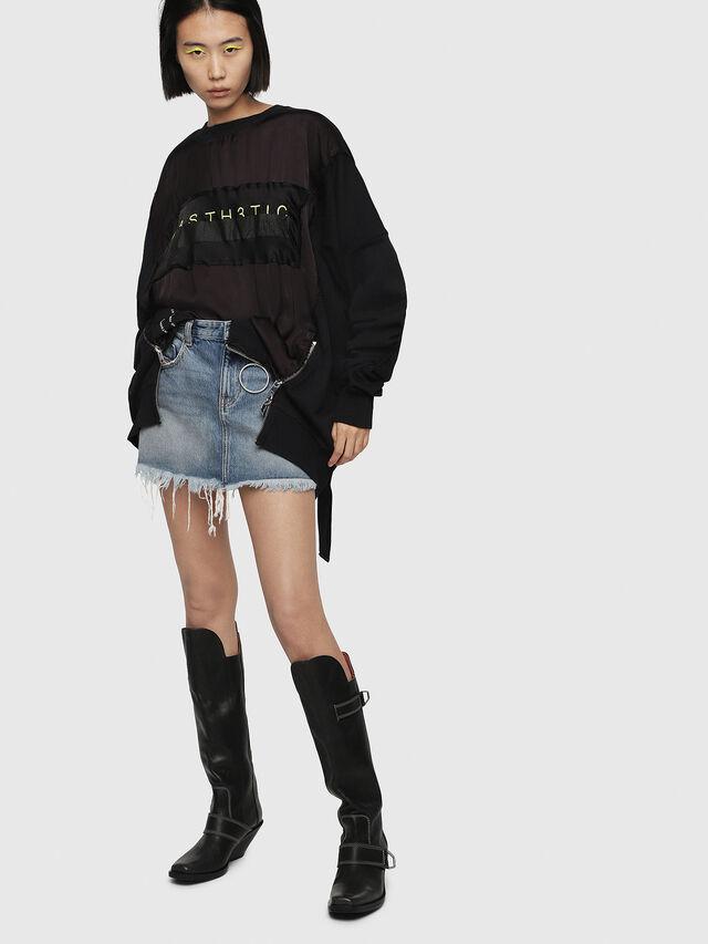 Diesel - F-TARAP-A, Black - Sweaters - Image 4