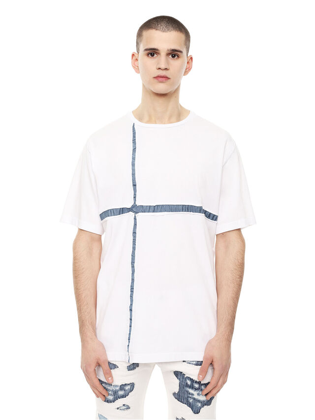 Diesel - TCUT, White/Blue - T-Shirts - Image 1