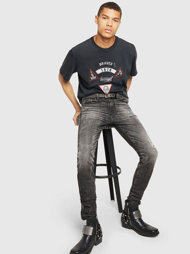 Diesel - PS-T-JUST-RIBS, Black - T-Shirts - Image 6