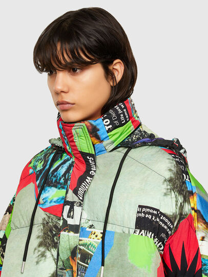 Diesel - W-EMMICK, Red/Green - Winter Jackets - Image 3