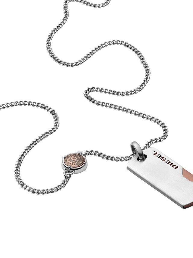 Diesel NECKLACE DX1078, Silver - Necklaces - Image 1