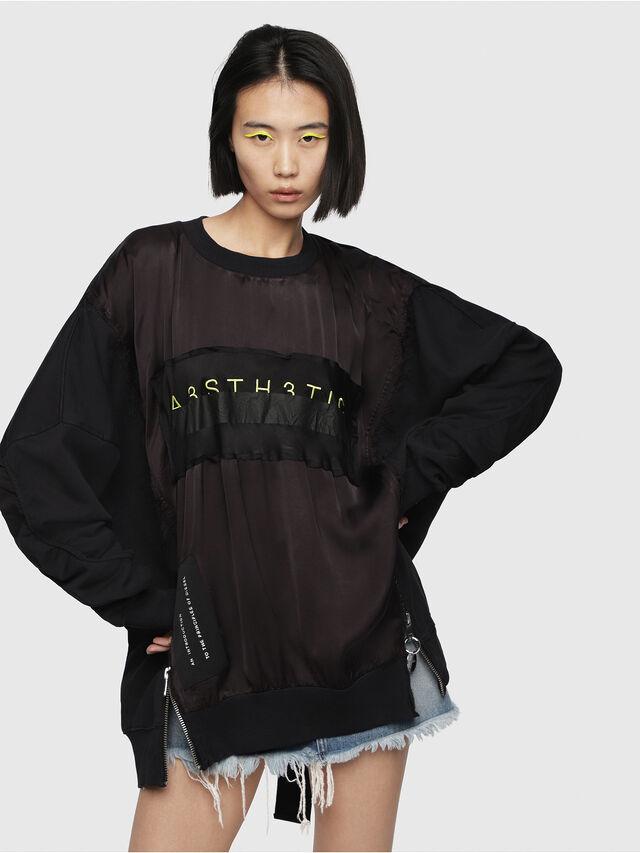 Diesel - F-TARAP-A, Black - Sweaters - Image 1