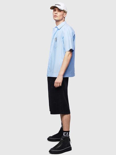 Diesel - S-FRY-FLUO, Light Blue - Shirts - Image 5