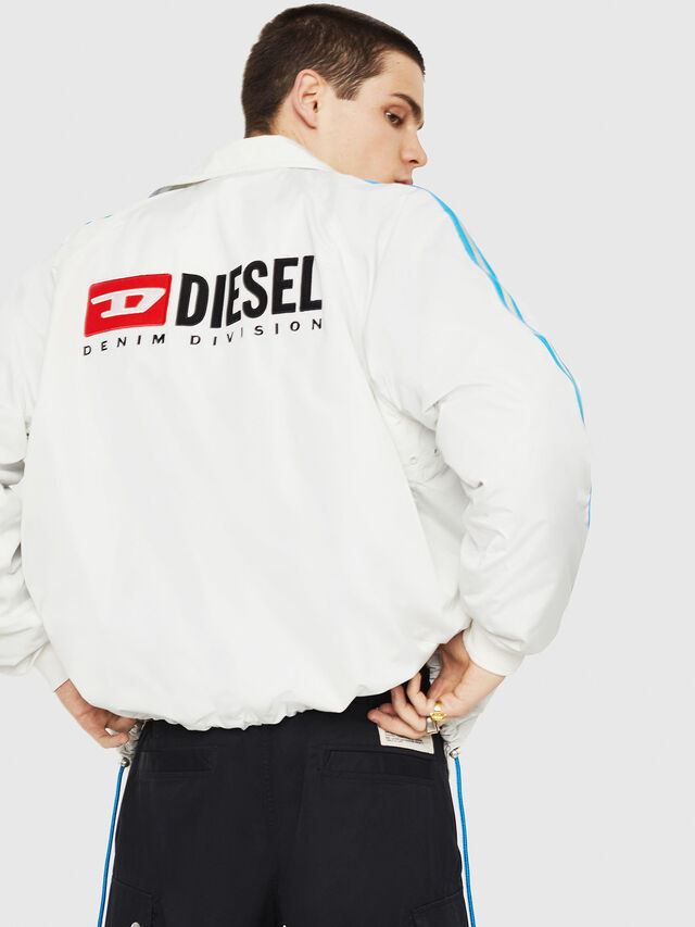 Diesel - J-AKITO, White/Blue - Jackets - Image 2