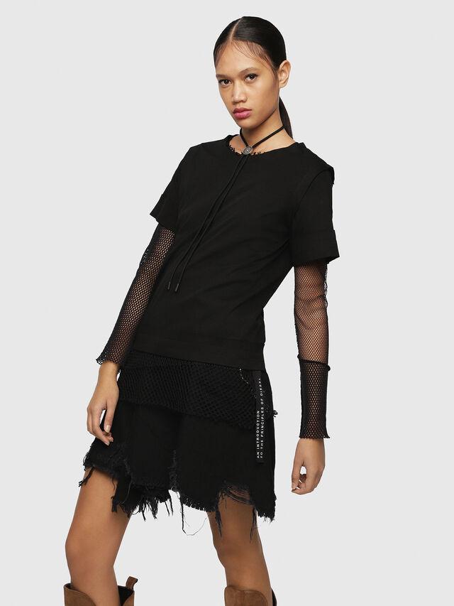 Diesel - T-ROCK, Black - T-Shirts - Image 1