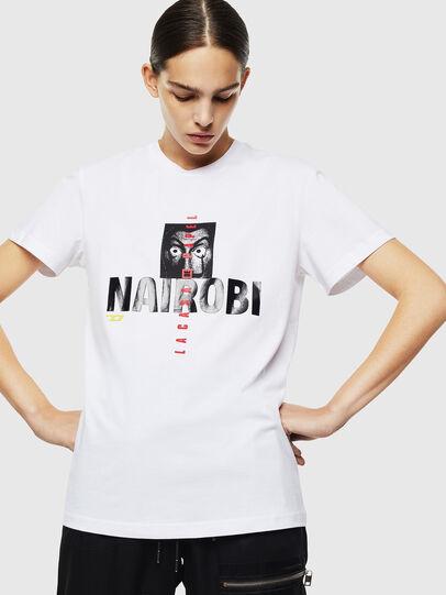 Diesel - LCP-T-DIEGO-NAIROBI, White - T-Shirts - Image 2