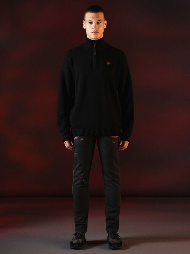 Diesel - DVL-KNIT-SPECIAL COLLECTION, Black - Knitwear - Image 3