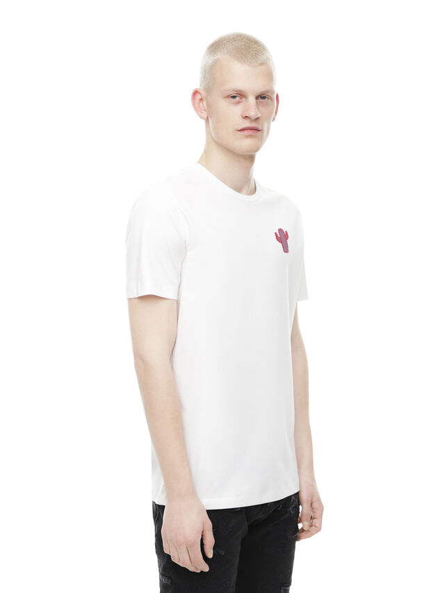 Diesel - TY-CACTUS, White - T-Shirts - Image 3
