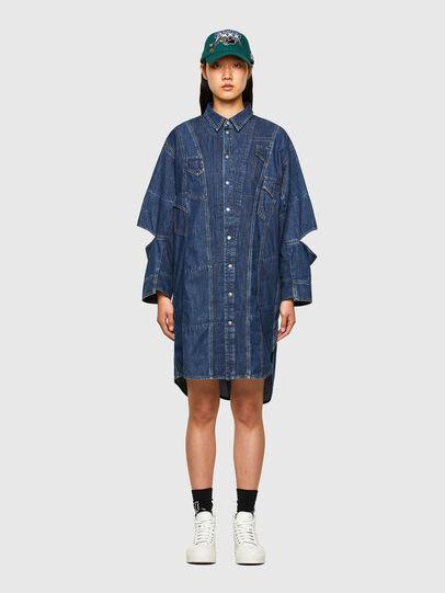 Diesel - CL-DE-BLIV, Dark Blue - Dresses - Image 1