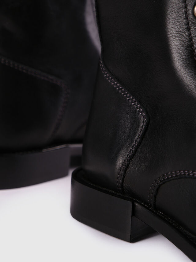 Diesel - D-KOMB BOOT CB, Black Leather - Ankle Boots - Image 5
