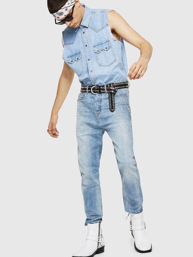 Diesel - D-Vider 081AL, Light Blue - Jeans - Image 5