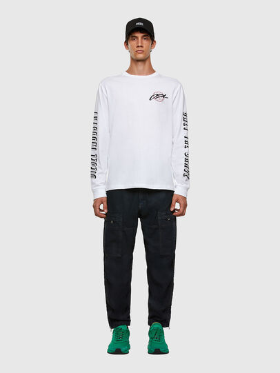 Diesel - T-JUST-LS-X92, White - T-Shirts - Image 6