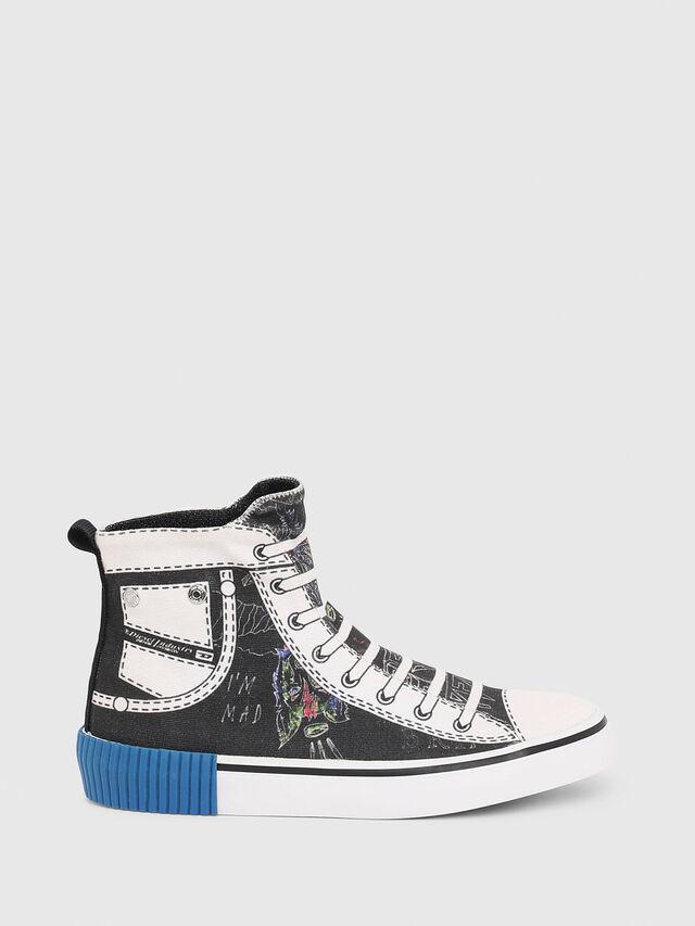 Diesel - SN MID 08 GRAPHIC CH, Black/White - Footwear - Image 1