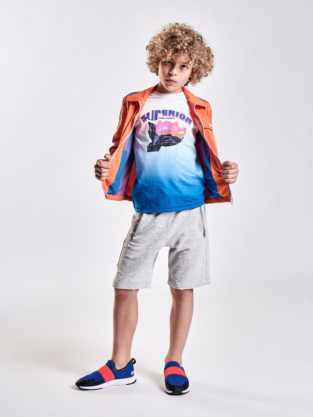 Diesel - TJOESR, White/Blue - T-shirts and Tops - Image 4