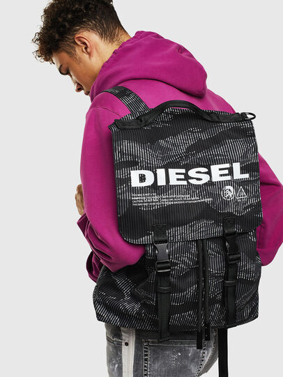 Diesel - VOLPAGO BACK, Black - Backpacks - Image 8