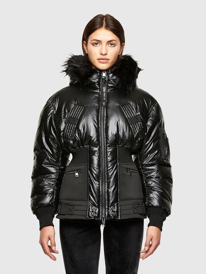 Diesel - W-ISOKE-SHINY, Black - Winter Jackets - Image 1