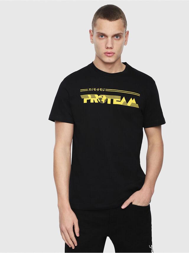 Diesel - T-DIEGO-YB, Black/Yellow - T-Shirts - Image 1