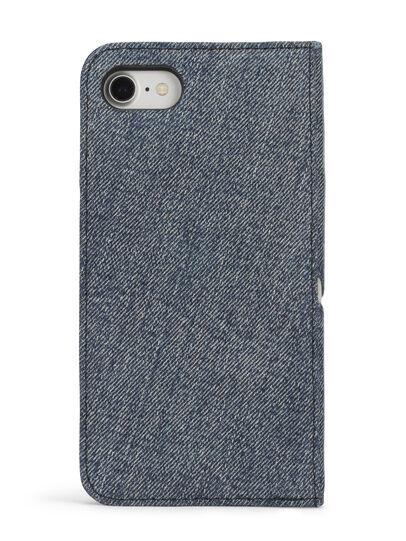 Diesel - DENIM IPHONE 8 PLUS/7 PLUS FOLIO, Blue Jeans - Flip covers - Image 5