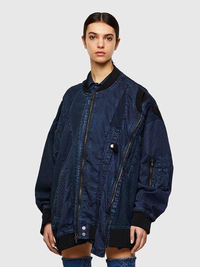 Diesel - D-FRANKIE-SP JOGGJEANS, Dark Blue - Denim Jackets - Image 1
