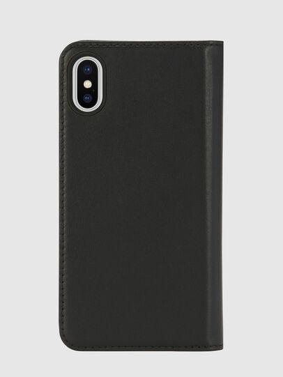 Diesel - SLIM LEATHER FOLIO IPHONE X,  - Flip covers - Image 2