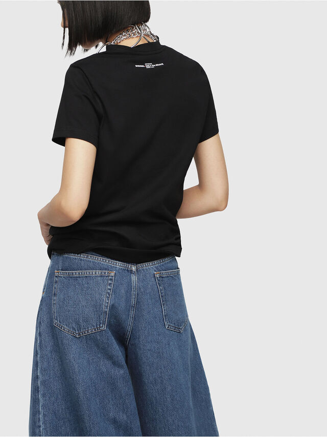 Diesel - T-SILY-WG, Black - T-Shirts - Image 2